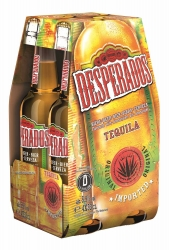Desperados Bier flavoured with Tequila 4x0,33l