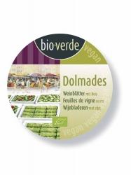 Bio-verde Dolmades gefüllte Weinblätter mit Reis 190g