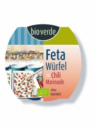 Bio-verde Feta-Würfel pikant aus original griechischem Feta-Käse 125g