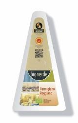 Bio-verde Parmigiano Reggiano D.O.P. italienischer Hartkäse egalisiert 125g
