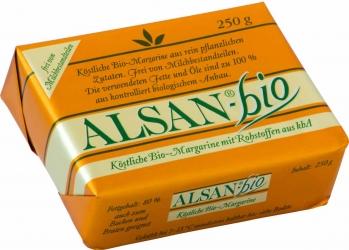 ALSAN Alsan-Bio Köstliche Bio-Margarine mit Rohstoffen aus kbA 250g