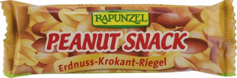Rapunzel Peanut Snack Erdnuss Krokant Riegel 30g