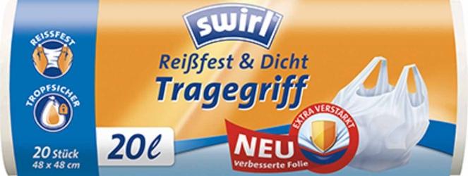 Swirl Müllbeutel Reißfest & Dicht mit Tragegrif 20l
