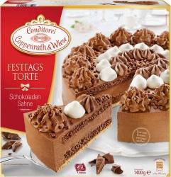 Conditorei Coppenrath & Wiese Festtagstorte Schokolade Sahne 1,4kg