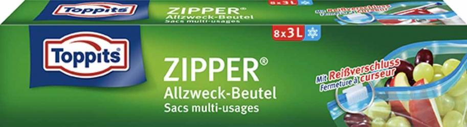 Toppits ZIPPER® Allzweck-Beutel 8x3l