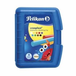 Pelikan Knete Creaplast 198/9B, Blaue Box, 9 Farben