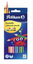 Pelikan Buntstifte sechseckige Holzstifte Packung mit 12 Farben FSC