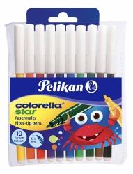Pelikan Fasermaler Colorella® Star, Folienetui mit 10 Farben