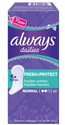 Always Fresh&Protect Slipeinlagen Normal 30 Stück
