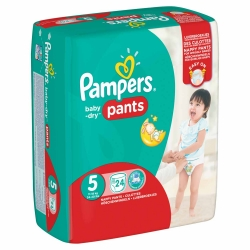 Pampers Baby Dry Pants Gr.5 11-18kg 3 x Junior 24 Stück