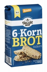 Bauckhof 6-Korn Brot Vollkorn Demeter 500g