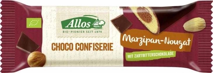 Allos ChocoConfiserie Marzipan-Nougat Riegel 35g