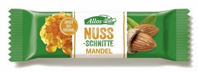 Allos Nuss Schnitte Mandel 30g