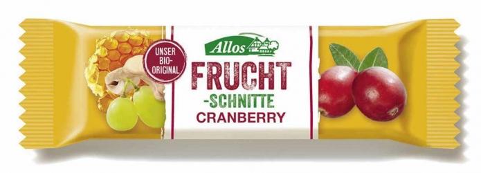 Allos Fruchtschnitte Cranberry 30g