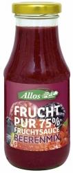 Allos Frucht Pur 75% Fruchtsauce Beerenmix 250ml