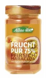 Allos Frucht Pur 75% Pfirsich-Maracuja 250g