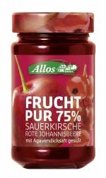 Allos Frucht Pur 75% Kirsche-Rote Johannisbeere 250g