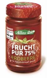 Allos Frucht Pur 75% Erdbeere 250g