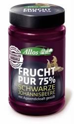 Allos Frucht Pur 75%  Schwarze Johannisbeere 250g