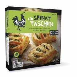 Moin Bio Backwaren Bio Spinat Taschen 4x55g