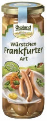 ÖKOLAND Würstchen Frankfurter Art in Delikatess Qualität 250g
