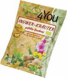 Bio4You Bio-Bonbon Ingwer Kräuter gefüllt 75g