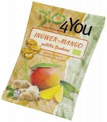 Bio4You Bio-Bonbon Ingwer-Mango gefüllt 75g