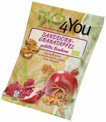 Bio4You Bio-Bonbon Sanddorn-Granatapfel gefüllt 75g
