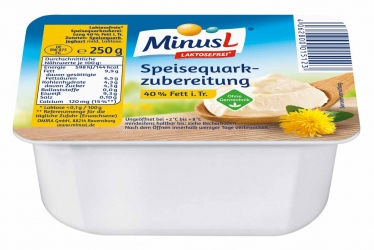 MinusL Speisequarkzubereitung Laktosefrei 40% 250g