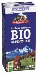 Berchtesgadener Land Bio Naturland Haltbare Bio-Alpenmilch fettarm 1l