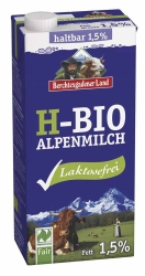 Berchtesgadener Land Bio haltbare Bio-Alpenmilch laktosefrei 1,5% 1l