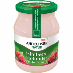 Andechser Natur Bio Jogurt Himbeer-Holunder 3,7% 500g