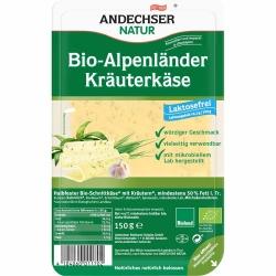 Andechser Natur Bio Alpenländer mit Kräutern Scheiben 50% 150g