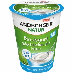 Andechser Natur Bio Jogurt griechischer Art 0,2% 400g