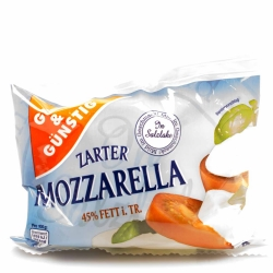 Gut & Günstig Mozzarella 45% 125g