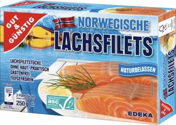 GUT&GÜNSTIG Norwegische Lachsfilets 2x125g