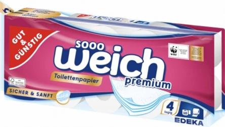 GUT&GÜNSTIG Toilettenpapier 4lagig 10x160 Blatt