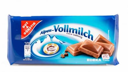 Gut & Günstig Alpenvollmilch 100g