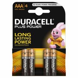 Duracell Plus Power AAA Alkaline-Batterien 4 Stück