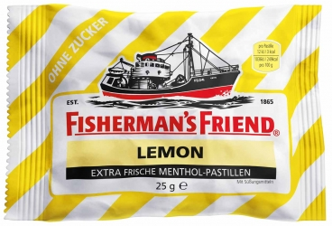 Fisherman´s Friend Lemon ohne Zucker 25g