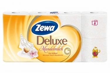 Zewa Deluxe Mandelmilch Toilettenpapier 4-lagig mit mildem Mandelduft 8x135 Blatt