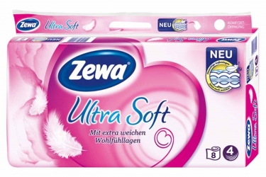 Zewa Ultra Soft Toilettenpapier 4-lagig 8x150 Blatt