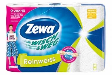 Zewa Wisch & Weg Küchenrollen Reinweiss 4x45 Blatt