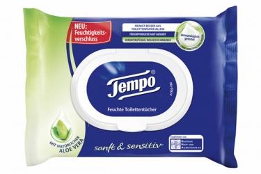 Tempo feuchte Toilettentücher sanft & sensitiv 42 Stück