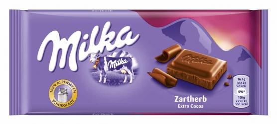 Milka Zartherb 100g