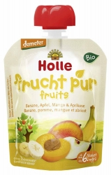 Holle baby food Pouchy Banane Apfel Mango & Aprikose ab dem 6. Monat 90g