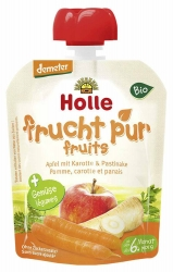 Holle baby food Pouchy Apfel mit Karotte & Pastinake ab dem 6. Monat 90g