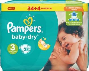 Pampers - Windeln Baby Dry Mini Gr.3 5-9kg 38 Stück