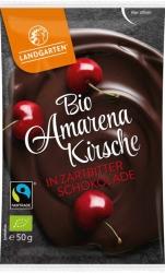 Landgarten Bio Amarenakirsche in Zartbitter Schokolade 50g