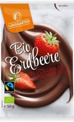 Landgarten Bio Erdbeer in Vollmilch Schokolade 50g